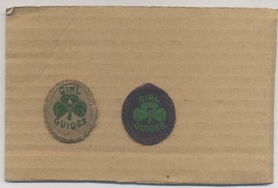 Vintage Pair Girl Guide Insignia Hat Badges