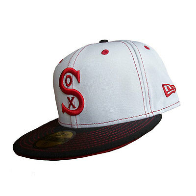 Chicago White Sox MLB 59FIFTY [5950] Retro White Fitted Cap