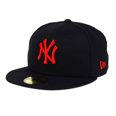 New York Yankees Black/Red 59FIFTY [5950] Fitted Cap