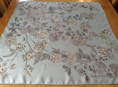 VINTAGE JACQMAR HAND ROLLED FLORAL SILK SCARF.  VGC.  30 x 29 INCHES.  SUPERB!