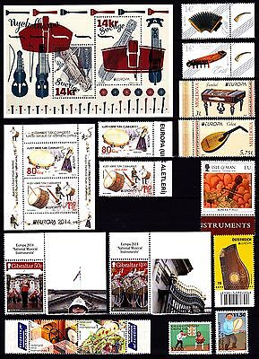 EUROPA CEPT - 2014 - 36 Different Complete Countries - Music Instrument ** MNH