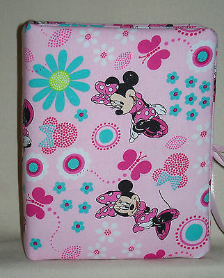 """Minnie Mouse Childrens Handcrafted Handmade Photo Album Holds 80 4""""X6""""  NEW pink"""
