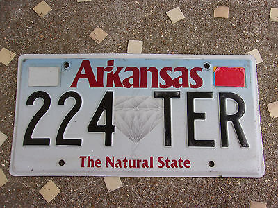 Vintage License Plate Sign Exp 2013 Arkansas Diamond Graphic Natural State