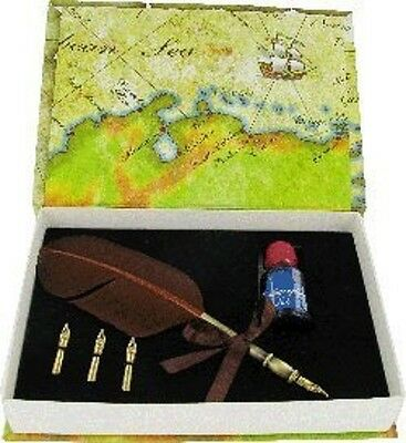Caligraphy Pen Set Quill Pen, 3 Nibs & Ink in Gift Box CAL4