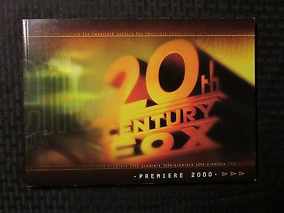 2000 20th Century Fox Premiere Press Book VF 8.0 54pgs X-Men Monkeybone Titan AE