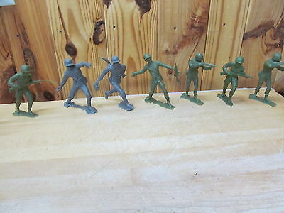 Lot of Large Army Men Soldiers Marx + Unmarked Green/Gray Vintage 1963 6""