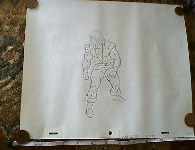 He-Man Masters of the Universe Original Production Pencil Drawing 1980s Retro TV