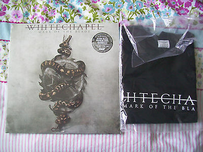 """Whitechapel Mark Of The Blade Clear Black Marbled 12""""vinyl And T-Shirtnew&sealed"""