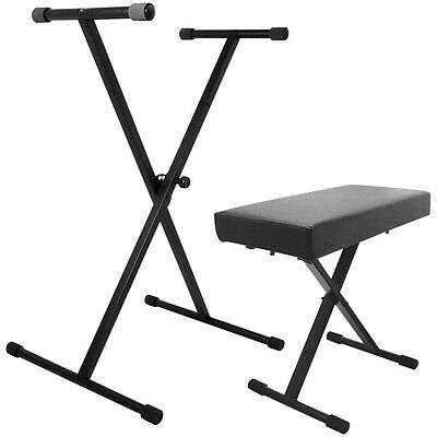 On-Stage Stands Keyboard Stand and Bench Pak LN