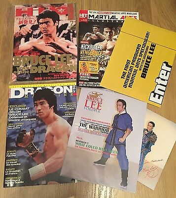 Lot X 4 Bruce Lee Japan, England And French Magazines