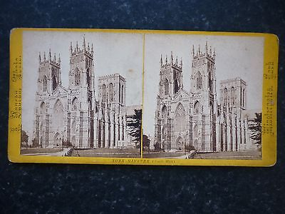 Stereoview Nice Early Image By Duncan -  York Minster ( South West )
