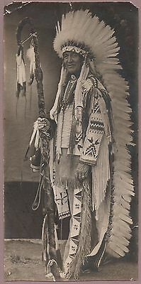 photo Chief Standing Bear Pine Ridge Ag So. Dakota Sioux Indian Native American