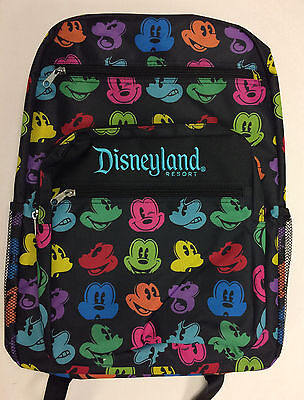 Disney Parks Disneyland 2017 Color Mickey Mouse Icons Backpack New