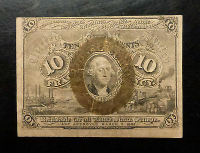 {BJSTAMPS}  1863 10 CENT Fractional 2nd Issue