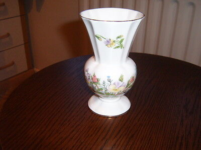 Unboxed Aynsley Wild Tudor design 5.5 inches high vase