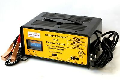 Auto 2/10/55 Amp Battery Charger w/Engine Starter Boost 4 CAR RV BOAT Motorcycle