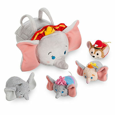 Disney Store Dumbo Bag Carry Case Tsum Tsum New + tag clown mouse elephant