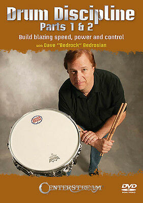 Drum Discipline Parts 1 & 2 Build Blazing Speed Power Play Lessons Video DVD NEW