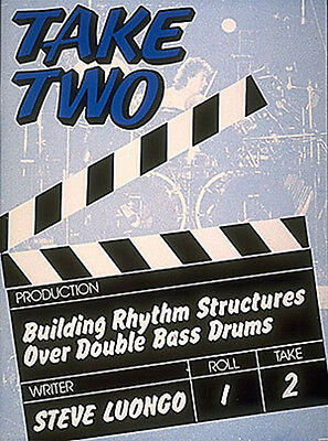 Take Two Percussion Double Bass Snare Drum Cymbal Pop Rock Music Lesson Book NEW