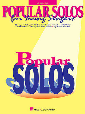 Popular Solos for Young Singers Vocal Collection Sheet Music Kids Songs Book NEW