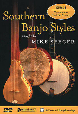 Southern Banjo Styles Lesson 1 Learn to Play Mike Seeger Homespun Video DVD NEW