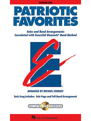 Patriotic Favorites Conductor Essential Elements Band Method Music Book CD NEW
