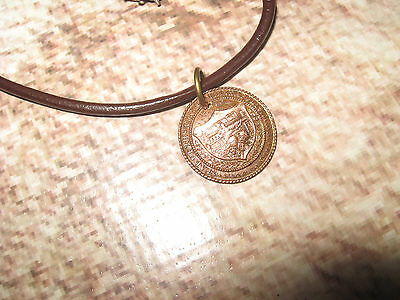 Antique Vintage Pendant & Leather Choker Seal of the City of Minneapolis MN