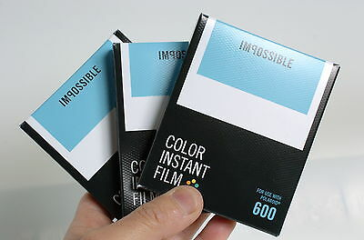 3 x Impossible Project New Colour 600 film New type Polaroid 600 Buy bulk SAVE!