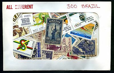 Lot of 300 Brazil Used Stamps #98518 X R