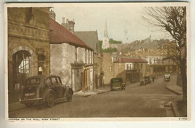 A Post Card of Harrow On The Hill, High Street. Middlesex.