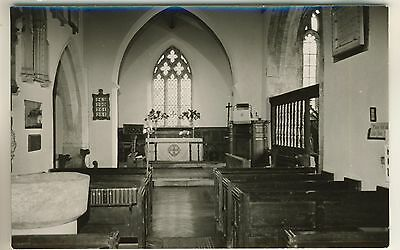 A Real Photo Post Card of The Church Interior, Melcombe Bingham, Dorset.