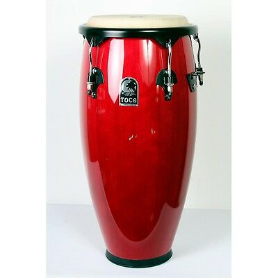Toca Synergy Conga Set with Stand Box A Red 888365691619