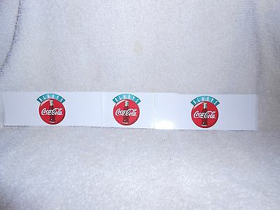 Coca Cola Peel & Stick Decals--Lot of 3-each one are 5 inches long