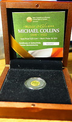 Ireland Twenty  Euro Gold  Proof Coin 2012. Michael Collins. Free Shipping