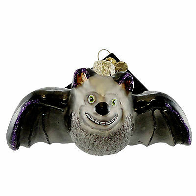 Old World Christmas BATTY BAT Glass Ornament Halloween 26054