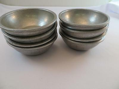 8 Small Bowls, Fruit Dessert Bowls Wilton Armatale Satin Pewter