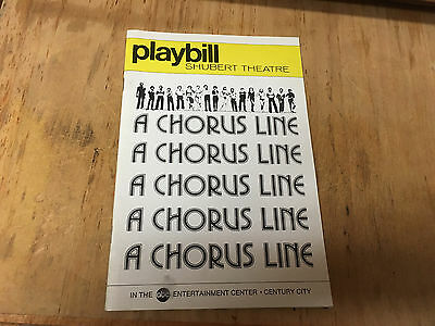 Playbill, Schubert Theatre, A Chorus Line , Oct 1977