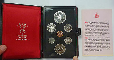 {BJSTAMPS} 1975 CANADA Proof like Set w/SILVER Calgary Commemorative Dollar