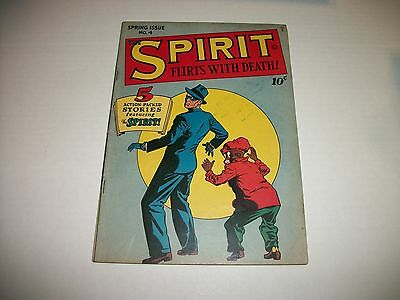 Quality Comics THE SPIRIT #4 Spring Issue 1946 NICE VG+/FINE- CONDITION