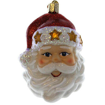 Old World Christmas STARRY HAT SANTA Glass Holiday St Nicholas 40260