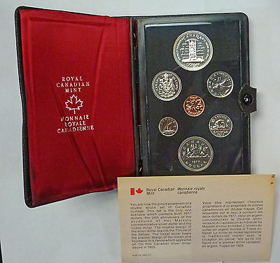 {BJSTAMPS}  1977 Canada Double Dollar 7 Coin PL Set Her Majesty SILVER Dollar