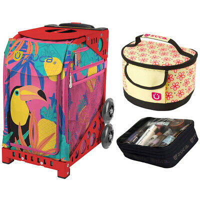 Zuca Sport Toucan Dream Bag & Red Frame, Gift Lunchbox + Pouch (Ltd. Ed.)