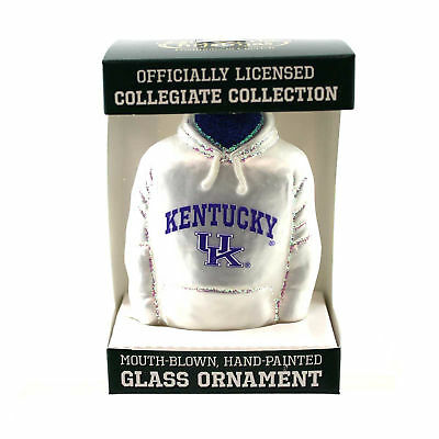 Old World Christmas U OF KENTUCKY Glass Uk Sweatshirt Ornament 62503
