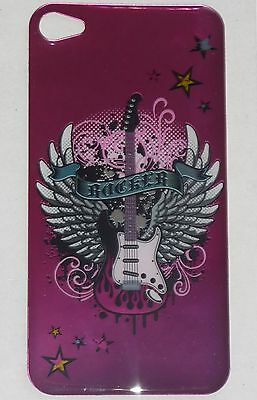 ROCKER Guitar on Wings Design BACK STICKER for Apple iPhone 4/4G/4S Phone Decal