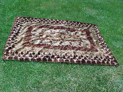 Antique CHASE Horsehair Carriage Sleigh Lap Robe Blanket   NICE!   AND HEAVY