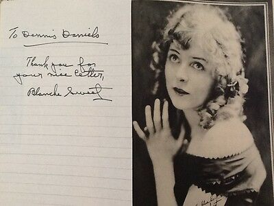 Blanche Sweet SIGNED Autograph Letter 20s Silent Film Star