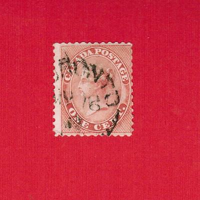 1859   #  14 Used  F/nh Timbre  Canada  Stamp  Queen Victoria
