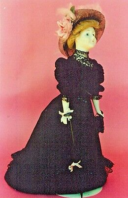"17&20&22&24""antique French Fashion Lady/gibson Girl Doll@1905 Dress&hat Pattern"