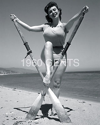 1950s NUDE 8X10 PHOTO BUSTY BIG BREASTS PINUP MEG MYLES FROM ORIGINAL NEG RARE-2