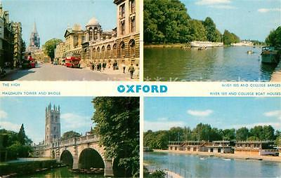 72944123 Oxford Oxfordshire The High Magdalen Tower and Bridge River Isis and Co